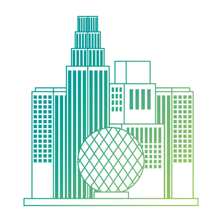 vancouver city with telus world of science vector illustration design