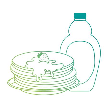 pancakes with maple syrup vector illustration design Standard-Bild - 102702405