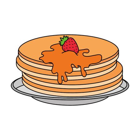 pancakes with maple syrup vector illustration design Standard-Bild - 102702130