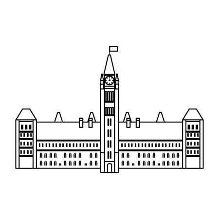 canadian parliament building icon vector illustration design Фото со стока - 102699859