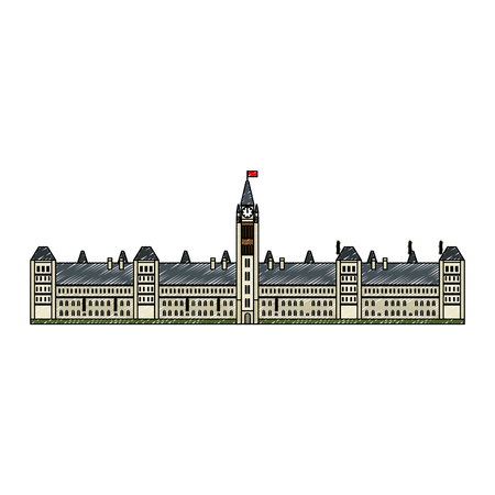 canadian parliament building icon vector illustration design Фото со стока - 102700128