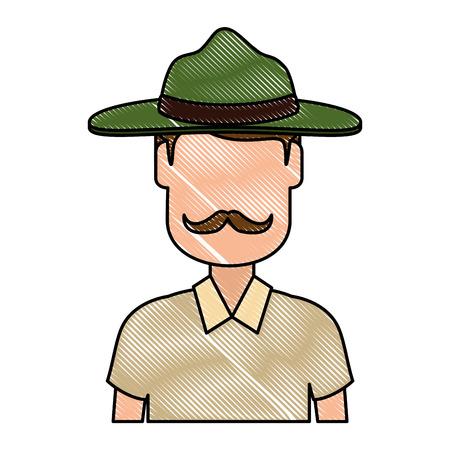 Canadian Ranger avatar character vector illustration design
