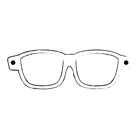 winter eye glasses icon vector illustration design