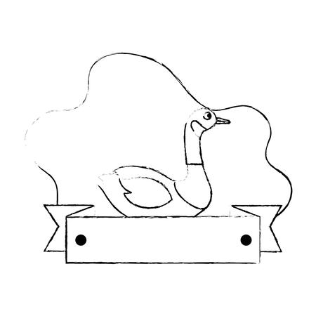 wild canadian duck icon vector illustration design