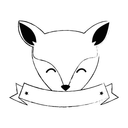 wild canadian fox head vector illustration design