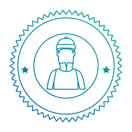 snowboarder man avatar character vector illustration design