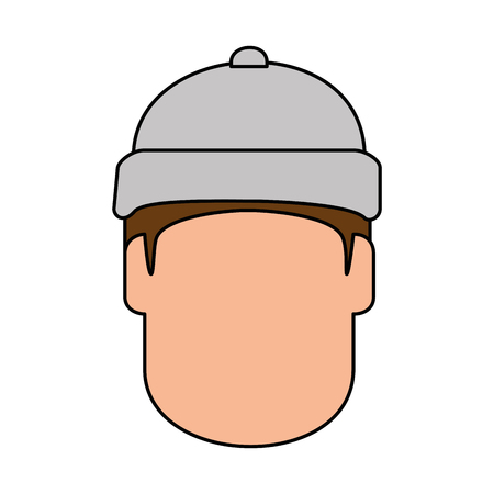 snowboarder head avatar character vector illustration design Ilustracja