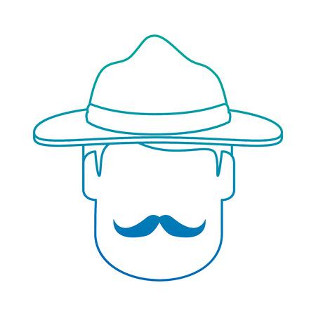 Canadian Ranger head avatar character vector illustration design Illustration