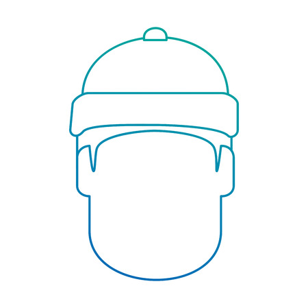 snowboarder head avatar character vector illustration design Illustration