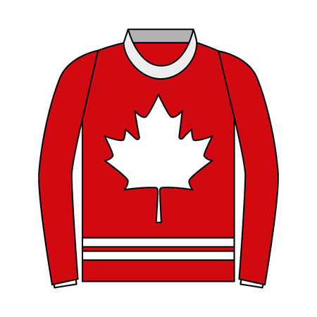 sweater with leaf maple icon vector illustration design