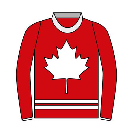 sweater with leaf maple icon vector illustration design Archivio Fotografico - 102896554