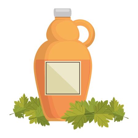 sweet maple syrup bottle vector illustration design Stock Vector - 102899877