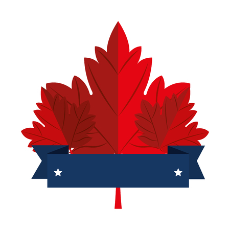 maple leaf emblem icon vector illustration design