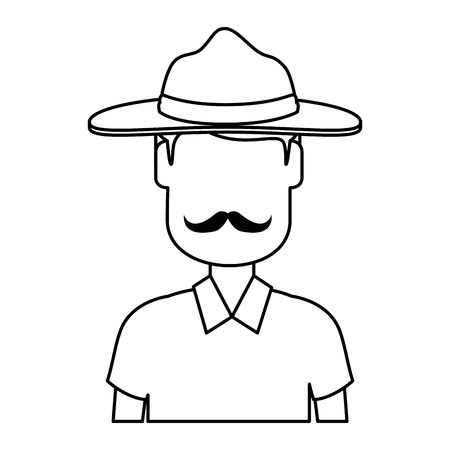 Canadian Ranger avatar character vector illustration design