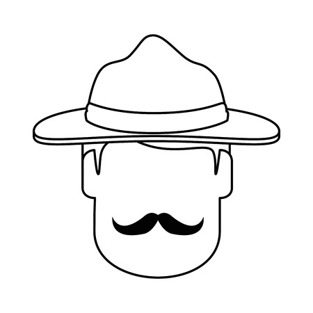 Canadian Ranger head avatar character vector illustration design 向量圖像