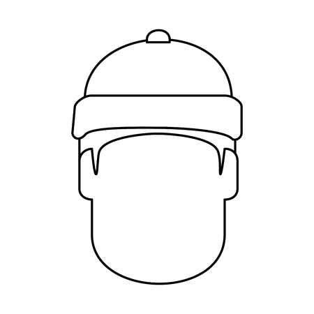 snowboarder head avatar character vector illustration design Ilustrace