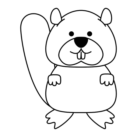 cute canadian marmot icon vector illustration design