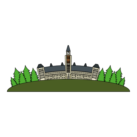 canadian parliament building icon vector illustration design 스톡 콘텐츠 - 102900737