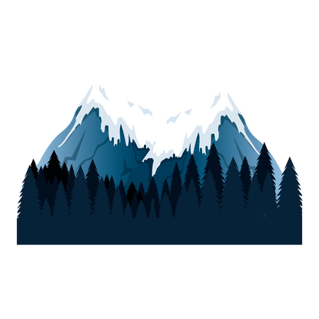 mountains with snow scene vector illustration design 写真素材 - 102900740