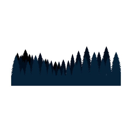 pines trees forest scene vector illustration design