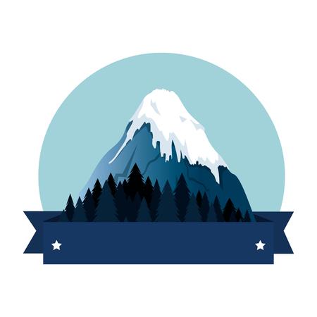 mountains with snow scene vector illustration design 写真素材 - 102900753