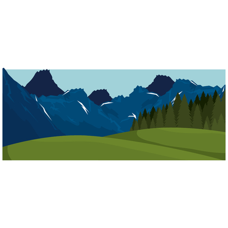 mountains with snow scene vector illustration design 写真素材 - 102903839