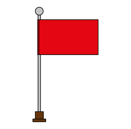 flag in pole isolated icon vector illustration design Illustration