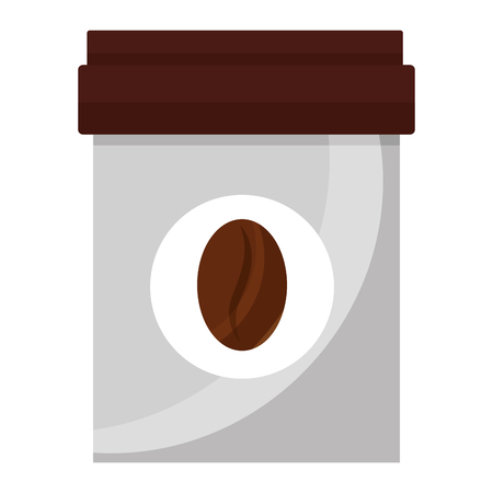 coffee container fresh product image vector illustration