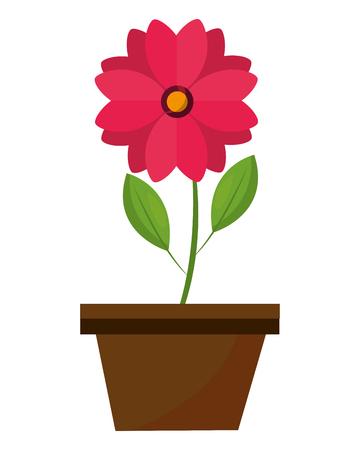 flower in pot decoration ornament image vector illustration Illustration