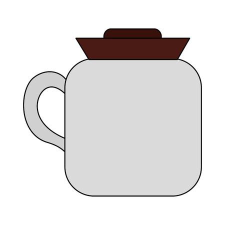 coffee maker kitchenware handle image vector illustration