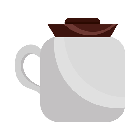 coffee maker kitchenware handle image vector illustration Foto de archivo - 102893216