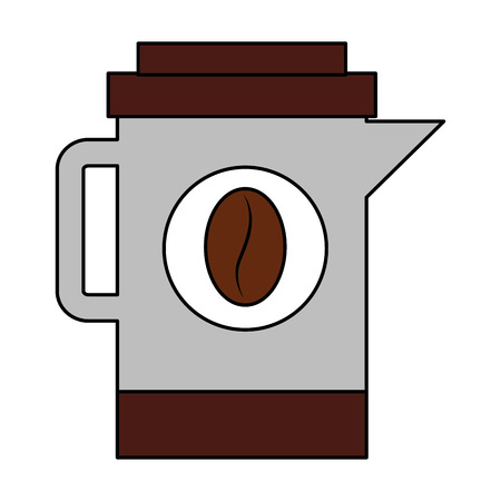 coffee maker kitchenware beans image vector illustration