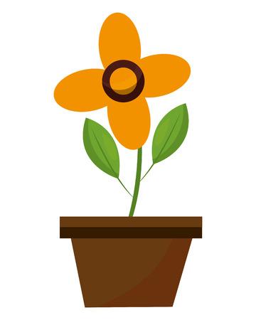 flower in pot decoration ornament image vector illustration Ilustracja