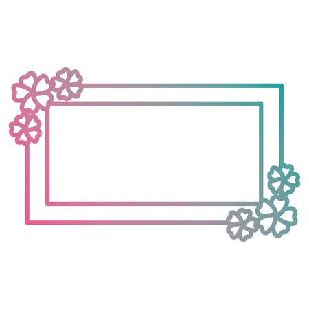 flowers garden decorative frame vector illustration design