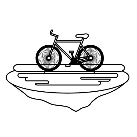 bicycle in the grass ecology icon vector illustration design Imagens - 102912292