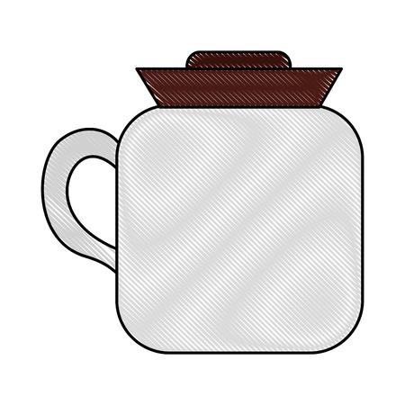coffee teapot isometric icon vector illustration design