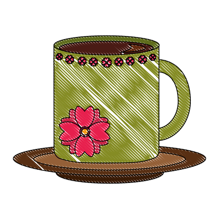 delicious coffee cup isolated icon vector illustration design