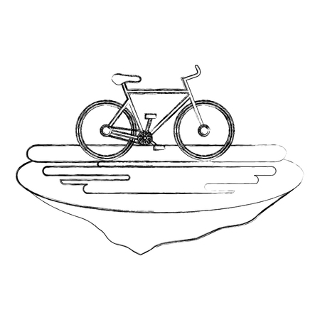 bicycle in the grass ecology icon vector illustration design Imagens - 102912716
