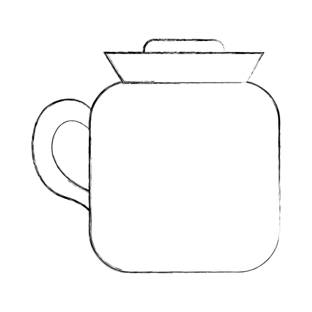 coffee maker kitchenware handle image vector illustration sketch