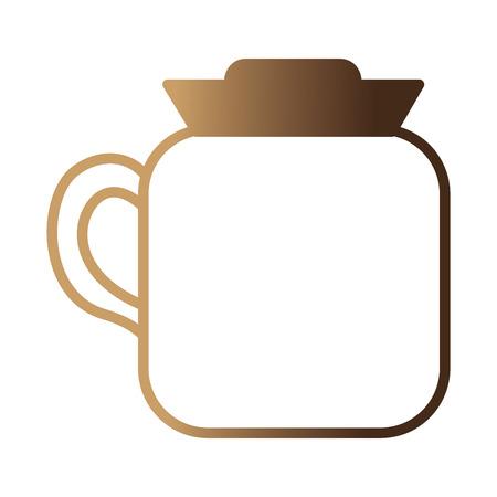 coffee maker kitchenware handle image vector illustration neon design Ilustrace