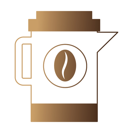coffee maker kitchenware beans image vector illustration neon design