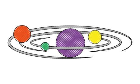solar system planets galaxy astronomy vector illustration Ilustração