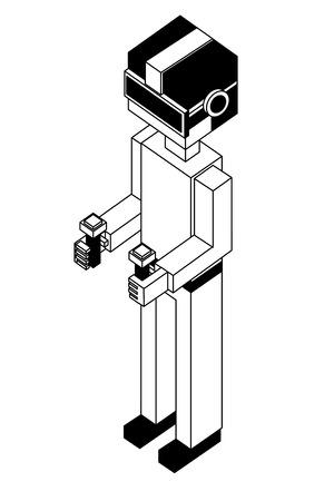 futuristic man isometric avatar vector illustration design 版權商用圖片 - 102915788