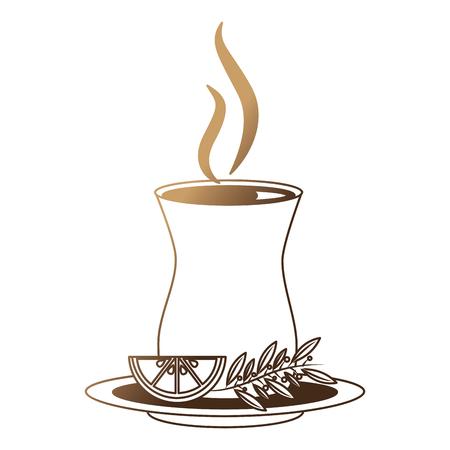 delicious lemon tea cup with slice lemon isolated icon vector illustration design Illustration