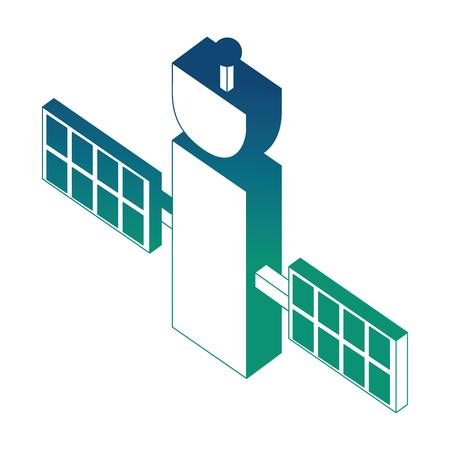 space satellite isometric icon vector illustration design