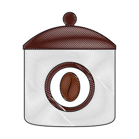 coffee container product image design vector illustration drawing