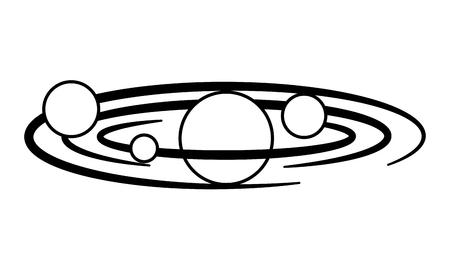 space planets orbiting isolated icon vector illustration design Ilustração