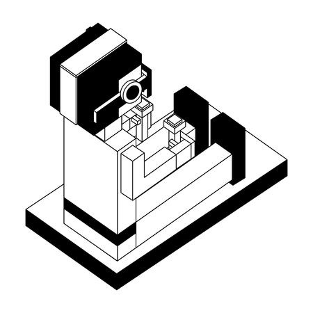 futuristic man isometric avatar vector illustration design  イラスト・ベクター素材