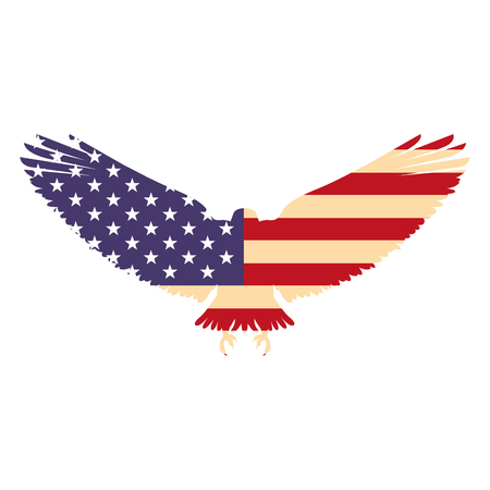 united states of america flag in eagle silhouette vector illustration 向量圖像