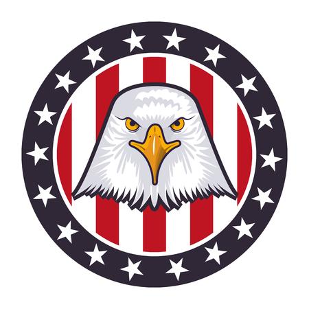 american eagle usa flag emblem vector illustration Иллюстрация